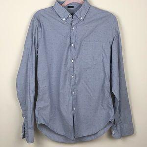 J. CREW | Men's Blue Button Down Dress Shirt Slim